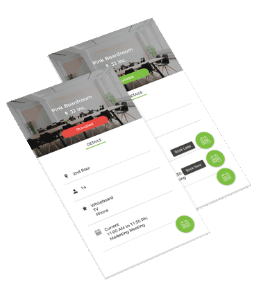 mobile booking screens